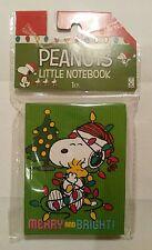 Snoopy - Notizbuch grün mit Weihnachtsmotiv / Peanuts / Neu & OVP USA !!