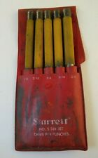 Vintage Starrett No S 248 Set Drive Pin Punches In Pouch