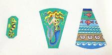 Mermaid Scissor Case & Fob handpainted Elegant Needlepoint Canvas  Brenda Stofft