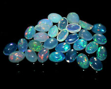 EPIC GEMS-2pcs-4X6MM Oval Natural Ethiopian Welo Fire Opal Loose Cabochon-AAA+