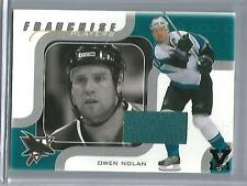 Owen Nolan 02/03 Be A Player Memorabilia Game Used Jersey #1/1