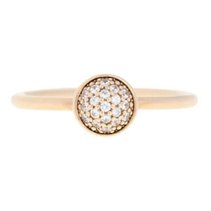 Pandora Dazzling Droplet Ring - 14k Gold CZs NEW Authentic 52 (US 6) 150187CZ