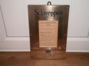 VINTAGE SCHWEPPES PUB  SIGN COLLINGHAM COURT