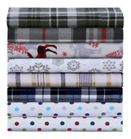 Luxury Cotton Flannel Sheet Set, Deep Pocket Warm Cozy Super Soft Bedding