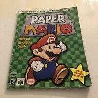 PAPER MARIO Nintendo 64 N64 Bradygames Strategy Guide w/ POSTER Walkthrough RPG