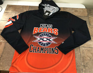 Chicago Bears Super Bowl XX 20 Mens XL Long Sleeve Hooded Jersey NFL Apparel