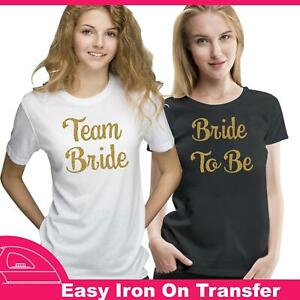 Personalize Flower Girl Hen Do Party Iron On Transfer T Shirt Sparkle Vinyl 7722