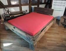 Balkenbett Bett aus alten Eichenbalken
