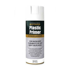 x1 Rust-Oleum Plastic Primer Multi-Purpose Premium Spray Paint White Matt