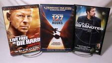 3 Dvd Action,Thriller,Drama Movie Pack #8 Live Free or Die Hard,127 Hours,88 Min