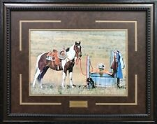 Cowgirl in Heave by David Stoecklein Western Framed Print