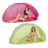 Pop Up Strandmuschel Wurfzelt Zelt Windschutz Camping Strand Sonnenschutz UV 50+