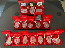 Lot of 15 Waterford Crystal Christmas Ornaments Rare 1978 - 2001 1979 1982 1983