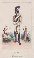 Original Watercolor Painting: GERMAN MILITARY OFFICER of 1812.  Painted in 1887