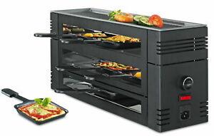 Spring Pizza Raclette6 mit Aluguss-Grillplatte in schwarz