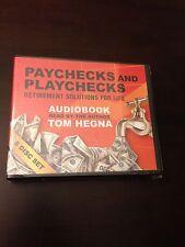 Paychecks and Playchecks Audio Book 6 Disc CD Set - Author Tom Hegna - Brand New