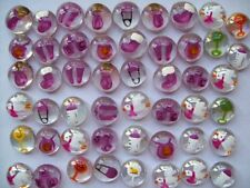 GLASS GEMS HP HAND PAINTED PARTY FAVORS mini art baby shower baby girl