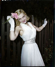 LIZABETH SCOTT STUNNING ORIGINAL VINTAGE 4X5 COLOR PHOTOGRAPHER CAMERA NEGATIVE