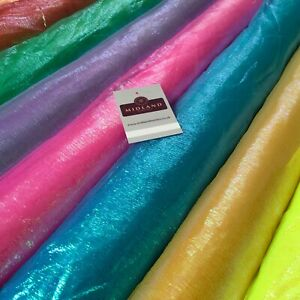 Pearlized Iridescent Crinkle Sheer Organza Fabric 130cm Wide MK1082 Mtex