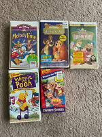 Disney Movies VHS Lot Of 5 All Sealed Except Pooh