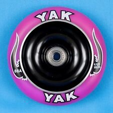 YAK Scooter Wheel 110mm Purple/Black w/Bearings - Razor Lucky District Phoenix