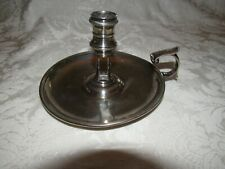 Georgian Chamberstick English Sterling, Early 1800s