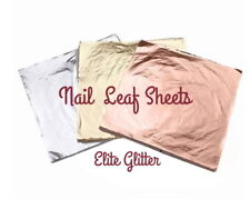 Nail Art Decoration 3pc Foil Leaf Sheets Rose Gold Silver Gilding Craft Supplies