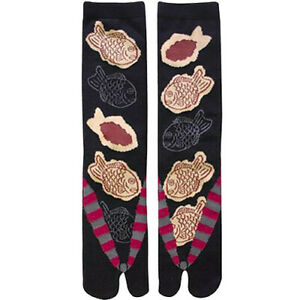Japanese Men's Tabi Socks Taiyaki UK Stock