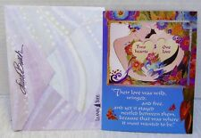 Valentine's Day Card Leanin' Tree Couple In Flowers Butterflies With Envelope