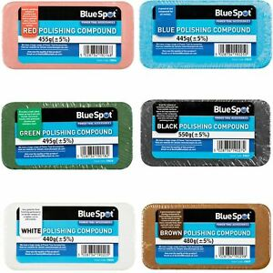 BlueSpot Polishing Buffing Compound Bars Metal Stainless Steel Brass Aluminium