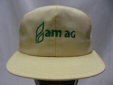 AM AG -AMARILLO-Vintage-SNAPBACK AJUSTABLE gorra sombrero