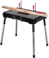Tool Jobsite Workbench Portable Husky Garage Table Steel Bench Work 1.8' x 3'