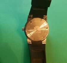 SWISS ARMY date quartz watch NBC Network Collectible Rubber Band Silver Face