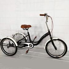 "20"" Adulte Tricycle vélo de croiseur 3 roues Trike Shopping transport Tricycle"