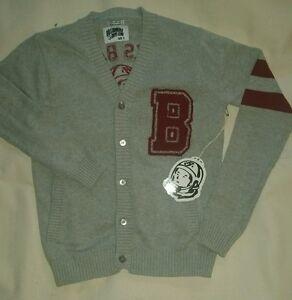 Billionaire Boys Club HU BBC Books Banks College Letterman Cardigan Gray Sweater