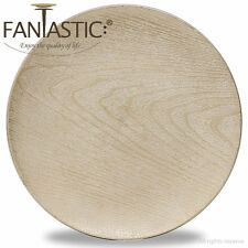 Fantastic:)™ Round 13Inch Charger Plate With Shiny Finish ( Wood Pattern )
