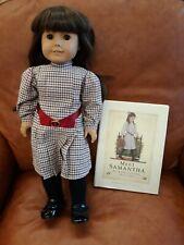 American Girl Doll ~ Samantha Parkington with book