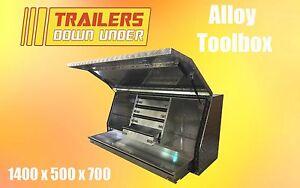 Aluminium Toolbox with 5 draws   Weather Proof   Full Lift Up Door