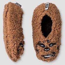 Kids Star Wars Chewbacca Slippers Socks Size S/M 8-13