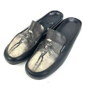 Icon Shoes 7.5 Wearable Art Leather Walking In The Rain Made USA Slip On Mules