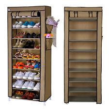 10 Schicht Schuhschrank Schuhablage Schuhständer Vliesstoff Schuhregal DE