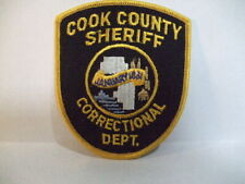 police patch  COOK COUNTY SHERIFF ILLINOIS CORRECTIONAL DEPT
