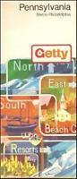 1973 GETTY OIL  Rand McNally Road Map PENNSYLVANIA Pittsburgh Philadelphia Erie