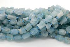 Rough Blue Ruby Aquamarine Chips Gemstone Beads (7mm x 8mm) Full Strand