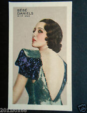 figurines actors figurine attori cigarette cards #46 bébé daniels cinema actress