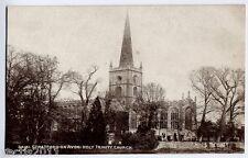 Stratford on Avon, Warwickshire, England vintage Postcard - Holy Trinity Church
