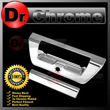 2015 15 FORD F150 Triple Chrome Plated Tailgate Door Handle Cover+1x Camera Hole