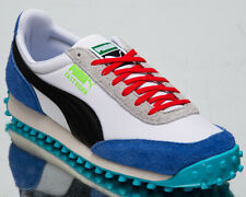 Puma Fast Rider Ride On Men's White Dazzling Blue Low Lifestyle Sneakers Shoes