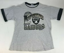 Vtg 90s TRENCH Ultra Los Angeles RAIDERS Graphic T-Shirt USA Made Roll Sleeve XL