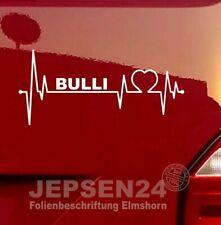 BULLI Herzschlag Aufkleber für VW Bus Liebhaber S136 / 20cm Farbe nach Wunsch